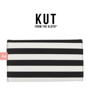Kut From The Kloth Striped Vegan Leather Wallet
